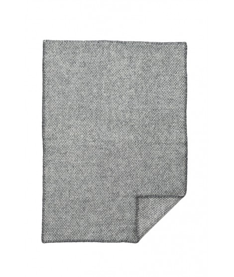 Woolen blanket Domino baby grey