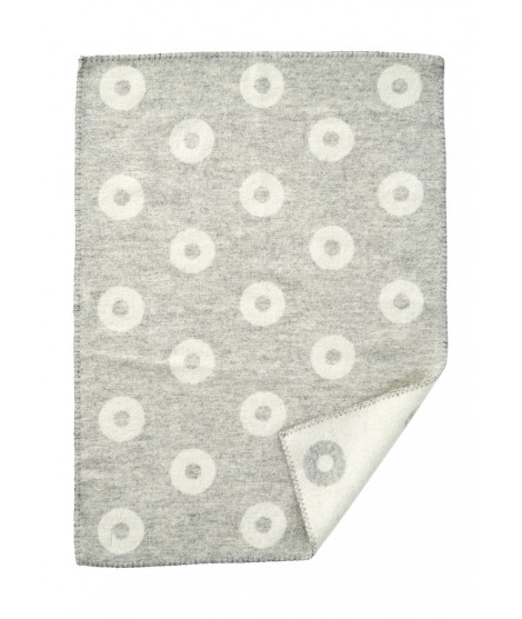 Baby blanket Rings baby grey