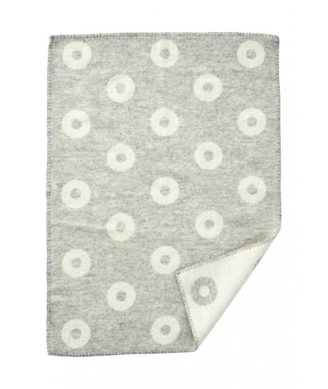 Vlněná dětská deka Rings baby grey