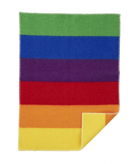 Vlněná dětská deka Rainbow