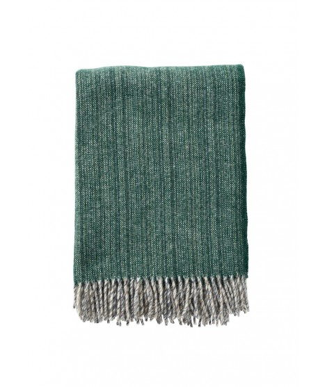 Wool throw Bjork forest green