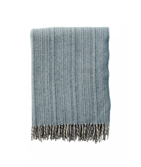 Wool throw Bjork lead grey