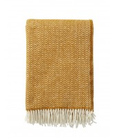 Wool throw Chevron caramel