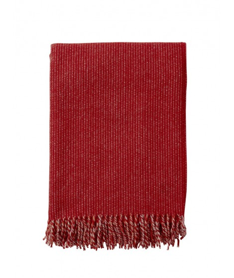 Wool throw Shimmer red