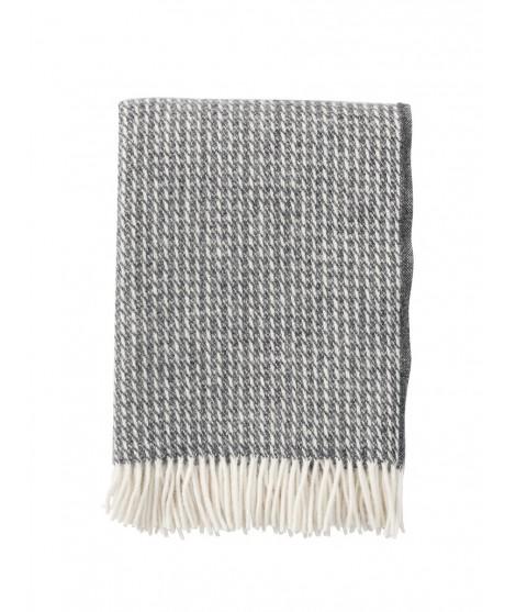 Wool throw Line dark grey