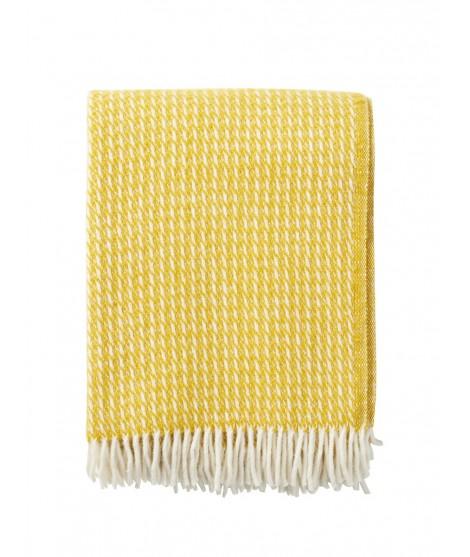 Wool throw Line yellow