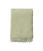 Wool throw Line green