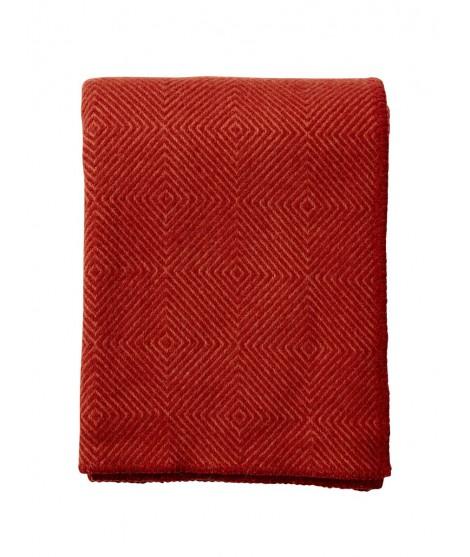 Wool throw Nova terracotta