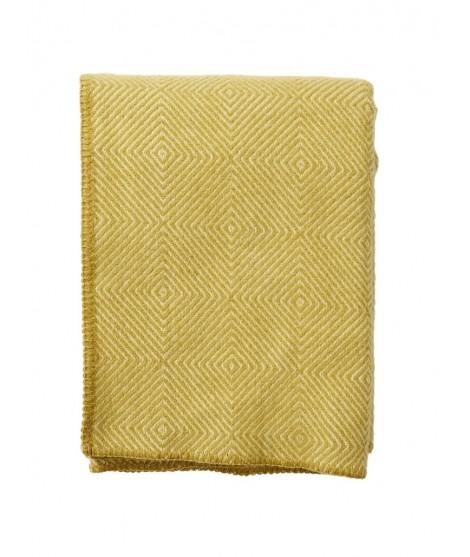 Wool throw Nova yellow