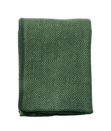 Wool throw Nova green