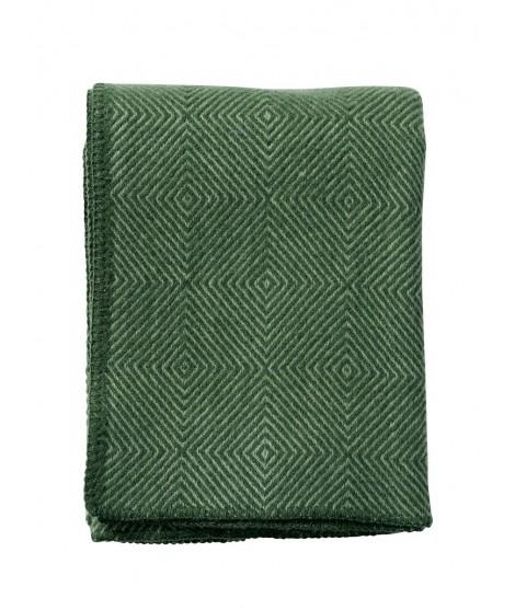 Wool throw Nova green
