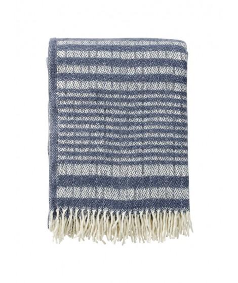 Wool throw Roy blue