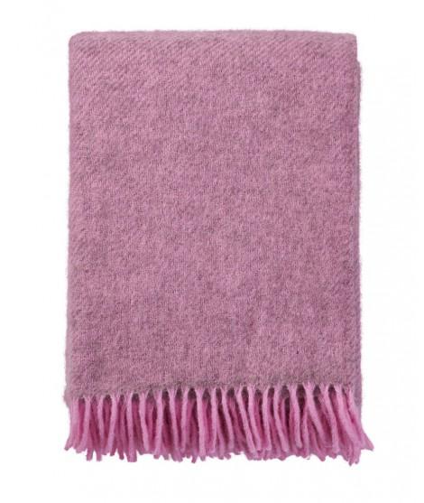 Wool throw Gotland pink