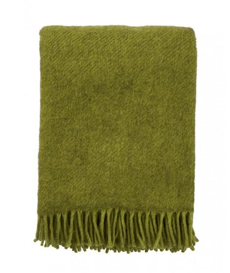 Wool throw Gotland green