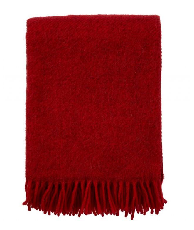 Wool throw Gotland red