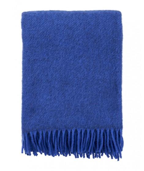 Wool throw Gotland blue