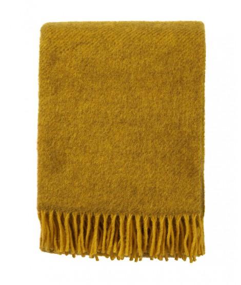 Wool throw Gotland yellow
