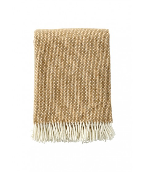 Wool throw Freckles amber