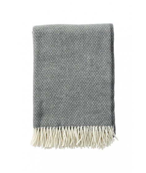 Wool throw Flow grey