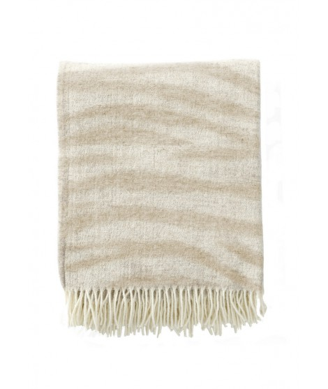 Wool throw Savannah sand