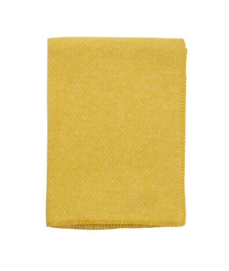 Wool throw Peak yellow