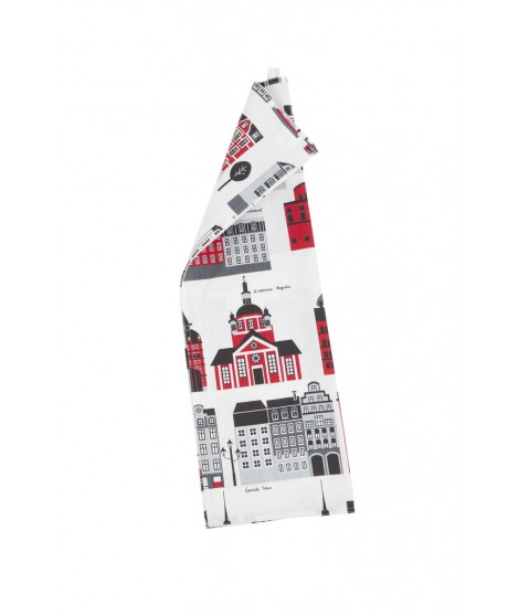 Kitchen towel My Stokholm red