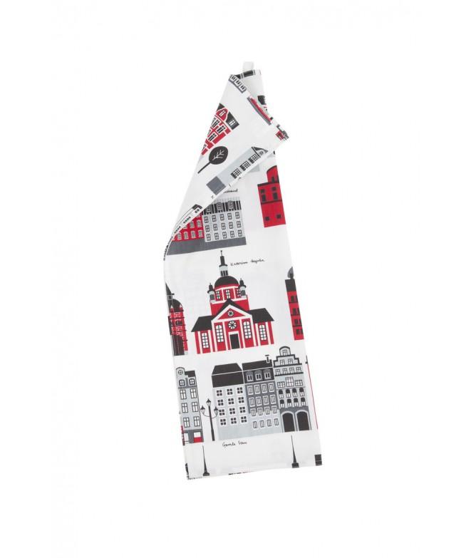 Kuchyňská utěrka My Stockholm red
