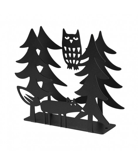 Napkin holders Fox and Owl black