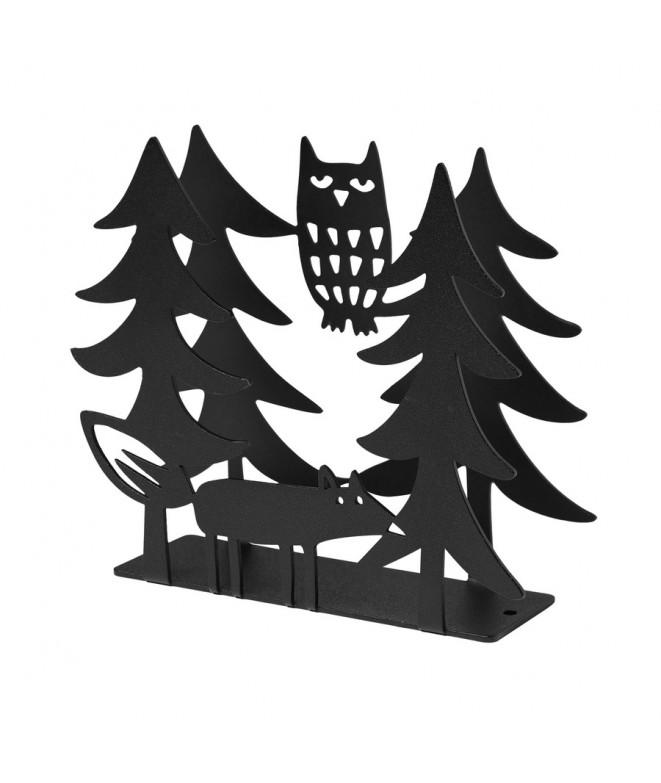 Držák na ubrousky Fox and Owl black