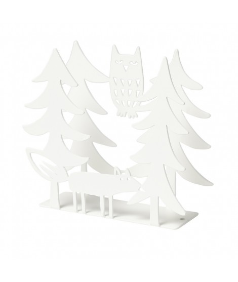 Napkin holders Fox and Owl white