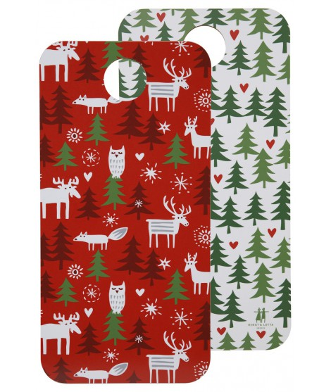 Cutting board Christmas forest