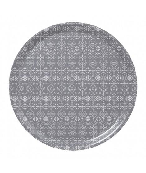 Kulatý servírovací tác Tradition grey d38