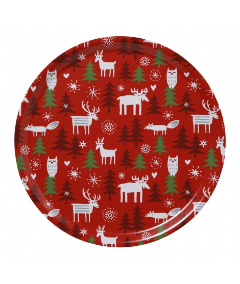 Kulatý tác Christmas forest d38