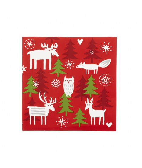 Paper napkins Christmas forest