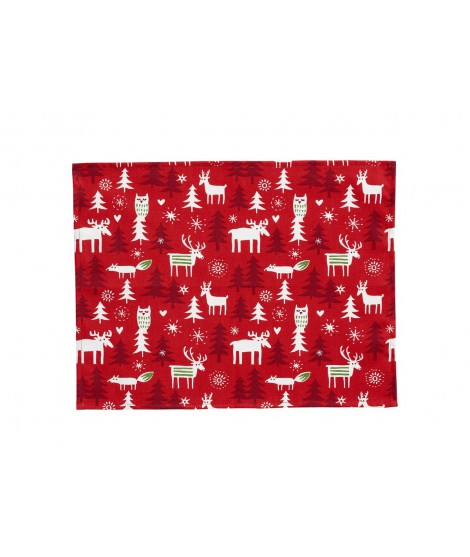 Table mats Christmas forest 2-pack