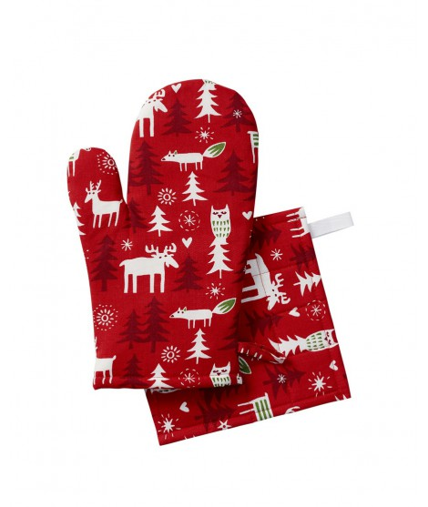 Oven glove Christmas forest