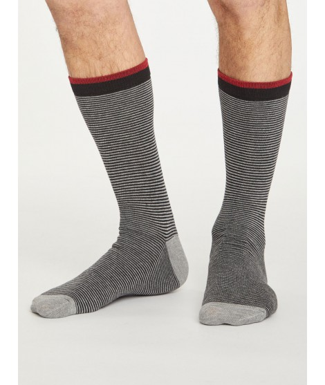 Bamboo socks Sten Stripe black