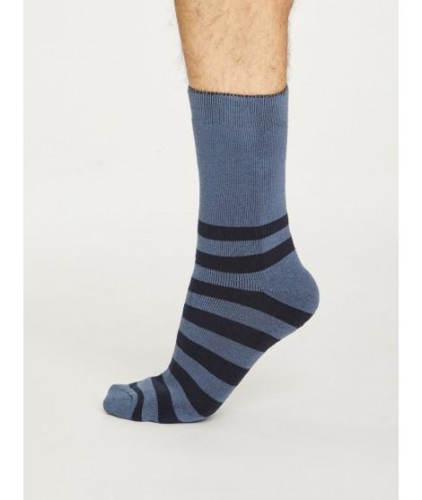 Bavlněné ponožky Walker stripe blue1