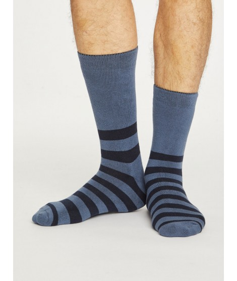 Organic cotton socks Walker stripe blue