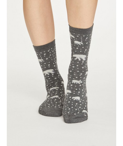 Bamboo socks Polar Bear grey