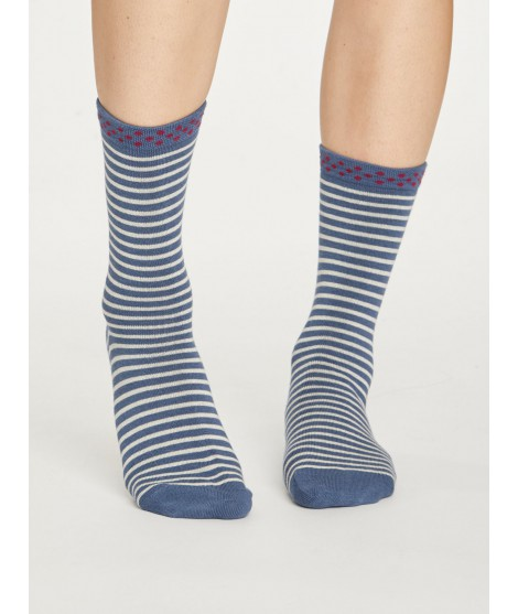 Bamboo socks Hedda Stripe blue