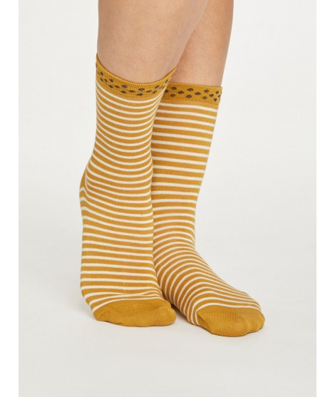 Bamboo socks Hedda Stripe gold