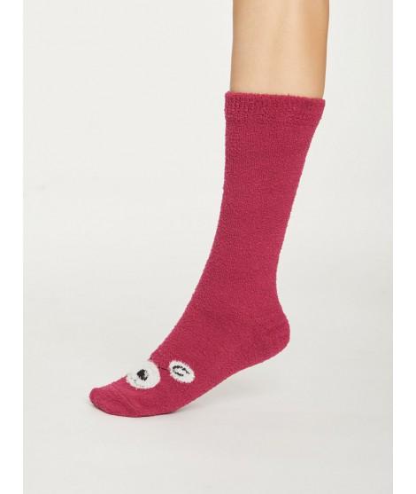 Dámské ponožky Fuzzy Animal cranberry1