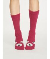 Dámské ponožky Fuzzy Animal cranberry