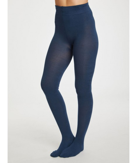 Bamboo tights Elgin petrol blue