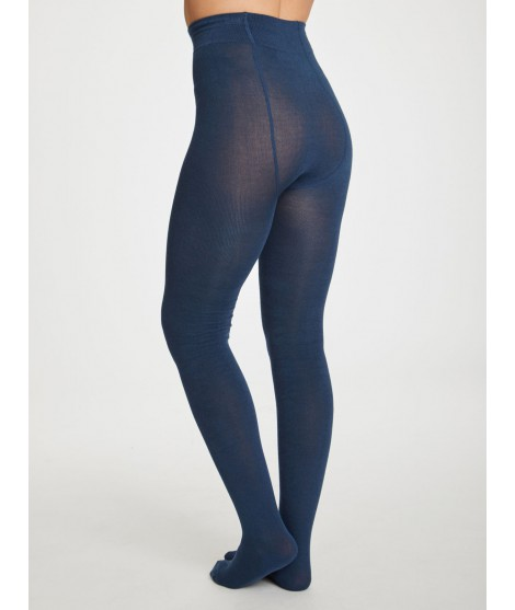 Bambusové punčochače Elgin petrol blue2
