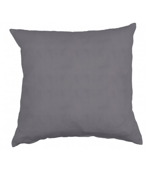 Linen cushion cover Linn lead grey