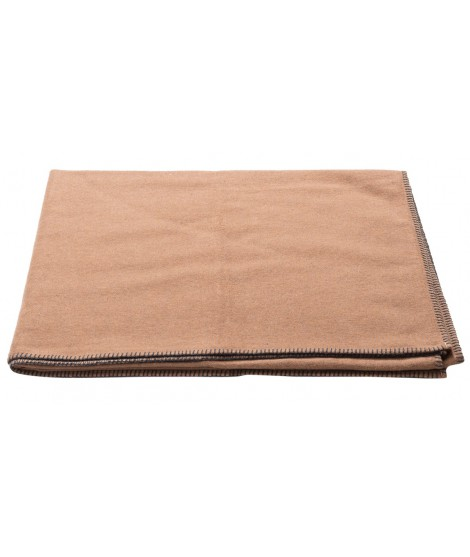 Cotton blanket SYLT chocolate2