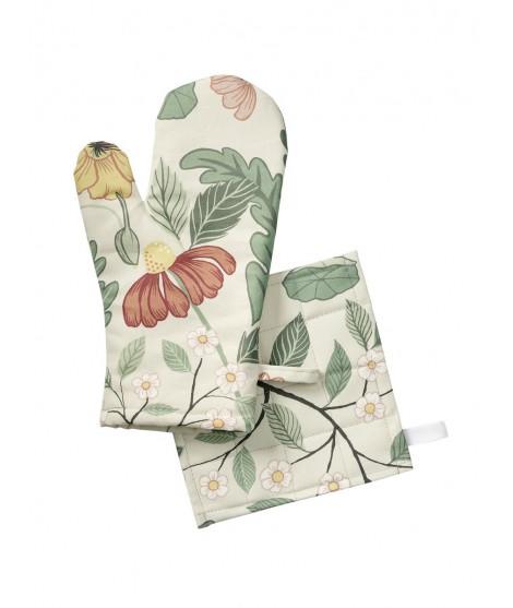 Kuchyňská chňapka rukavice Bloome creme