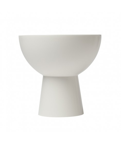 Wooden candle holder Plateau white